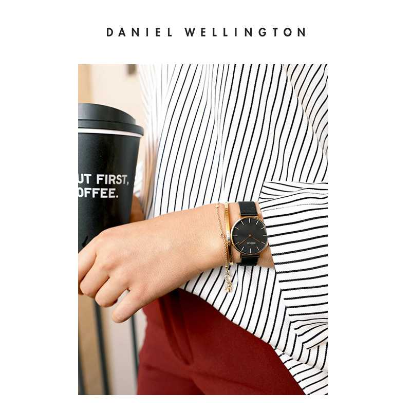 32 мм Роскошные Брендовые женские кварцевые часы со стальным браслетом модные простые женские часы из розового золота dw стиль+ браслет ЖЕНСКИЕ НАРЯДНЫЕ часы