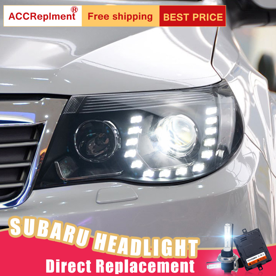 2pcs Led Headlights For Subaru Forester 2009 2017 Car Lights Angel Eyes Xenon Hid Kit Fog Daytime Running In Light Embly From