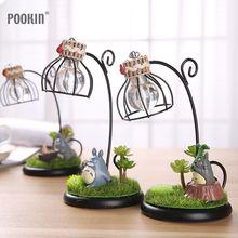 Creative Cartoon Four Kinds Of  Modeling Landscape Resin Totoro Night Light LED Bedside Nightlights For Children Birthday Gift