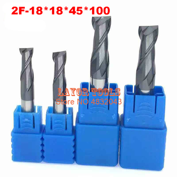 2f-18*18*45*100,hrc50,carbide End Mills , Carbide Square Flatted End Mill ,,coating:nano, The Lather,boring Bar,cnc,machine