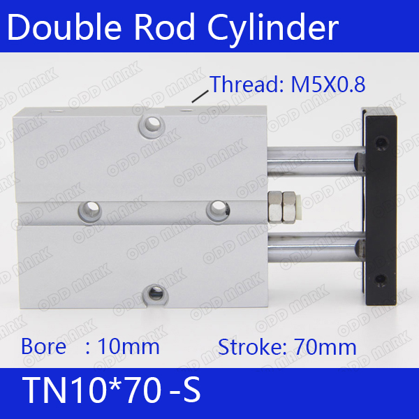TN10*70-S Free shipping 10mm Bore 70mm Stroke Compact Air Cylinders TN10X70-S Dual Action Air Pneumatic Cylinder sda16 70 s free shipping 16mm bore 70mm stroke compact air cylinders sda16x70 s dual action air pneumatic cylinder magnet