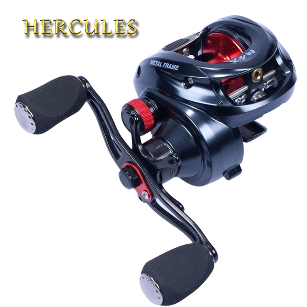 Hercules 10+1 BB Left/Right Hand Baitcasting Reel Fishing Reel 6.3:1 Fishing Wheel With Magnetic Brake Carp Carretilha Pesca цена 2017