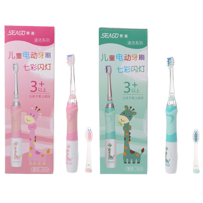 SEAGO Family Electric Toothbrush For Kids Waterproof Replaceable Smart Timer image