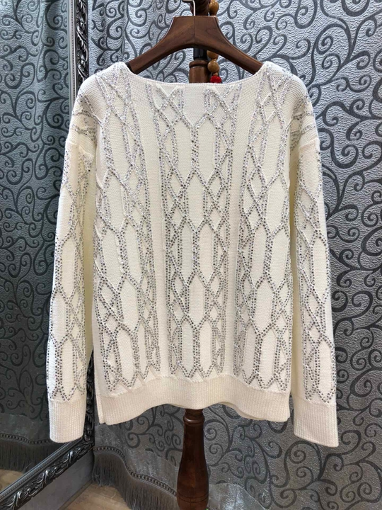 Épais 2018 Rond Femmes Européen Décoratif Tissé Kaki Nouvelles Américain L'hiver Rayé De Col Sweater109 Et Automne rqxwzvAr