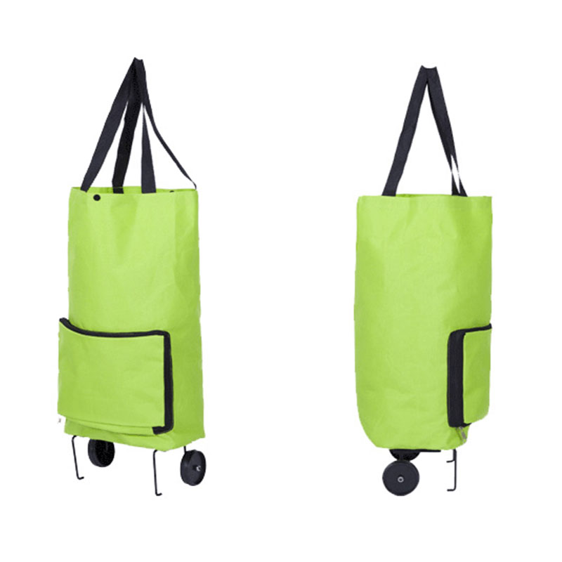 Wulekue Oxford Folding Shopping Cart Bag With Wheels Trolley Bags Travel Storage Package Handbag Organizer folding reusable shopping bag portable eco multi function pouch travel durable home storage handbag accessories supplies product