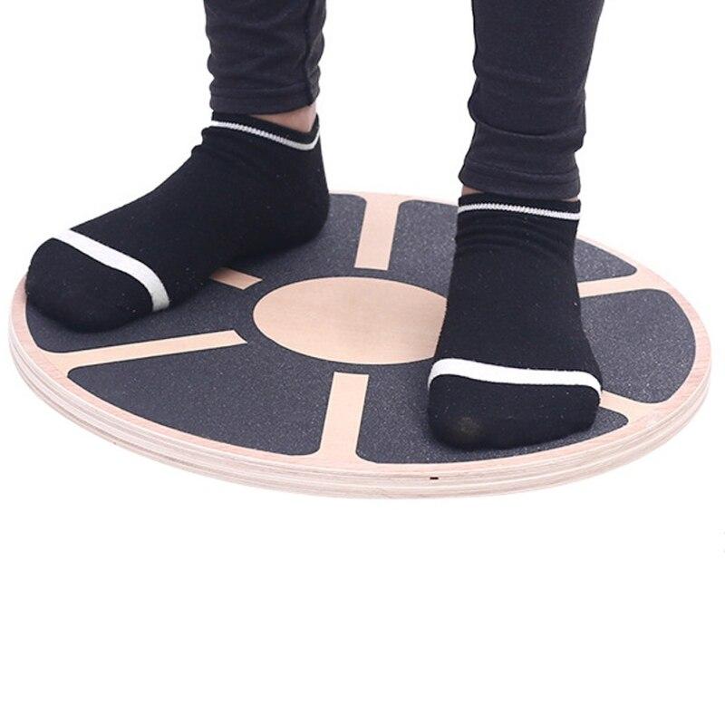 Yoga en bois oscillant Balance conseil équilibre antidérapant agilité stabilité disque taille noyau force entraînement plaque
