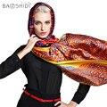 Projeto da linha 100% de Cetim De Seda, 106*106 Grande Lenço Quadrado, baoshidi mulheres de luxo da marca lenços de seda pura, bom para senhora presentes