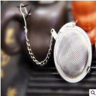 4.5 cm infuseur à thé 304 en acier inoxydable théière infuseur sphère maille passoire à thé boule de thé bonne qualité 100 PCS/Lot livraison gratuite