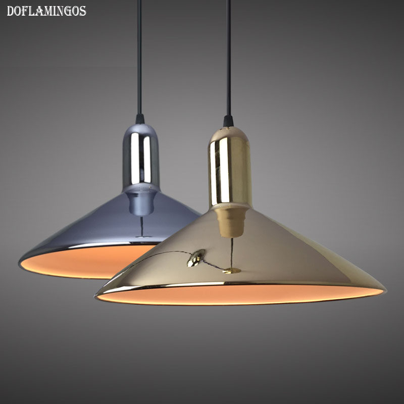 Modern E27 Advanced plating Gold pendant light metal home/Industrial lighting hang lamp dining/living room bar cafe droplight стоимость