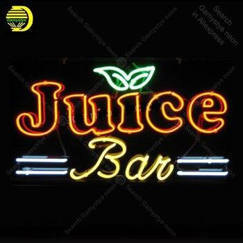 NEON BURCU Meyve Suyu Bar Için NEON Ampuller Işareti Lambası Gerçek CAM Tüp Süslemeleri Bira El Sanatları Reklam özel neon ışık Kişiselleştirilmiş