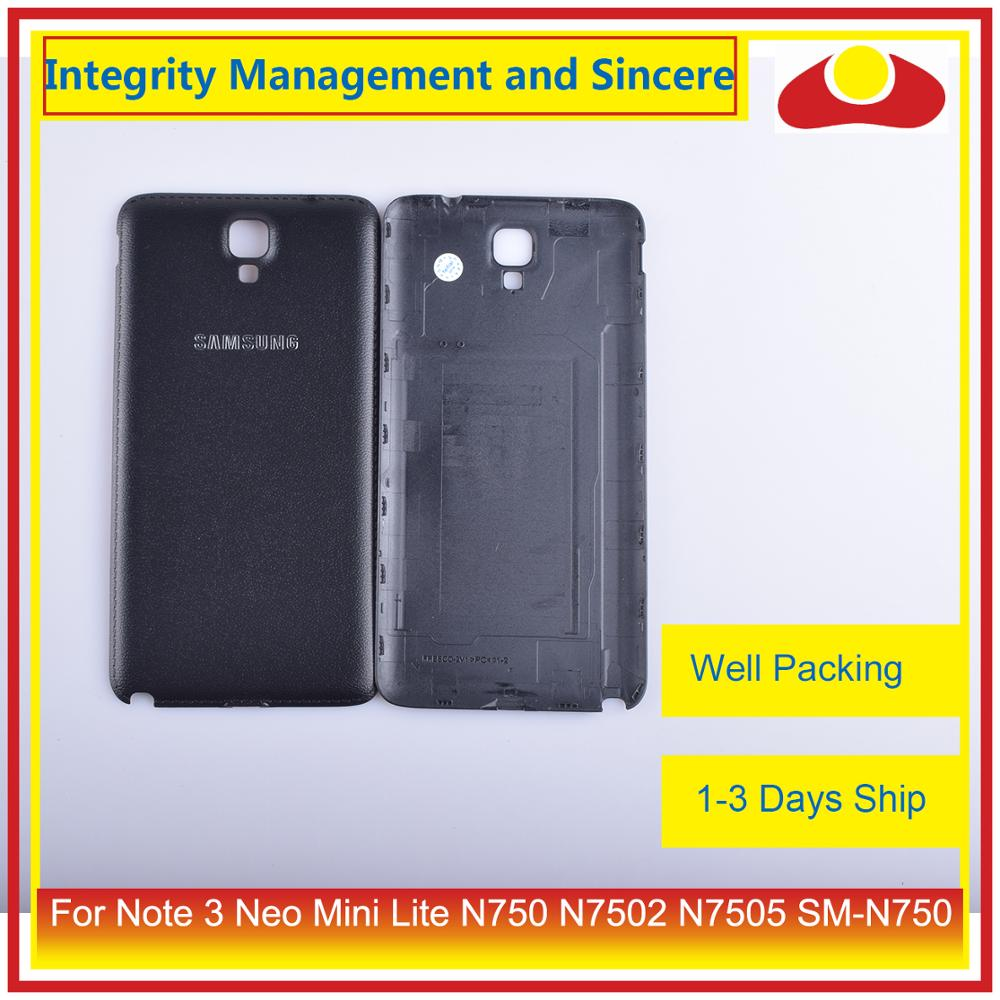 Image 2 - Original For Samsung Galaxy Note 3 Neo Mini Lite N750 N7502 N7505 Housing Battery Door Rear Back Cover Case Chassis Shell-in Mobile Phone Housings & Frames from Cellphones & Telecommunications