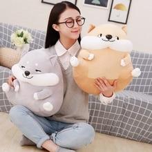 1pc 32cm/40cm Cute Evil Doge Plush Toys Cartoon Stuffed Animal Emoji Dog Doll Kawaii Kids Love Toy Creative Valentine Gift