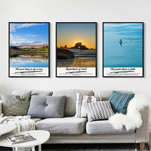 Elegant Poetry Modern Simple Natural Landscape Canvas Painting Art Print Poster Picture Wall Home Decoration OT219