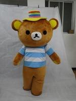 100% real beelden waren Rilakkuma mascotte kostuum teddybeer kleding gratis verzending
