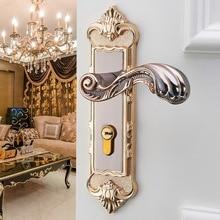 1 Set Vintage Door Lock European Style Retro Bedroom Door Handle Lock Interior Anti-theft Room Safety Door Lock hardware цены онлайн