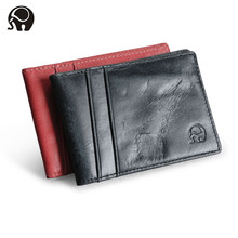 New genuine leather credit card wallet purse card holders Men Wallet driver license Thin Small Card Bag credit card holder teemzone promotion top genuine leather trifold slim men wallet purse driver license credit card receipt holder id window j50