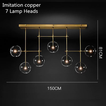 Postmodern LED chandelier ceiling living room hanging lights home fixtures Nordic dining room pendant lamps Glass ball lighting 14