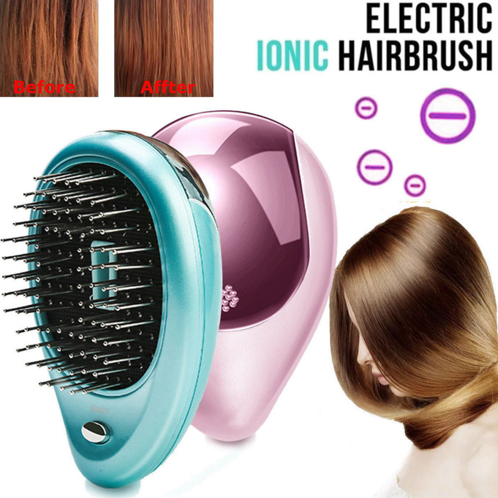 2Colors Electric Ionic comb Portable Pink Hairbrush Anti-static Mini Hair Brush Massage Comb Mini Straight Hair Comb 20192Colors Electric Ionic comb Portable Pink Hairbrush Anti-static Mini Hair Brush Massage Comb Mini Straight Hair Comb 2019
