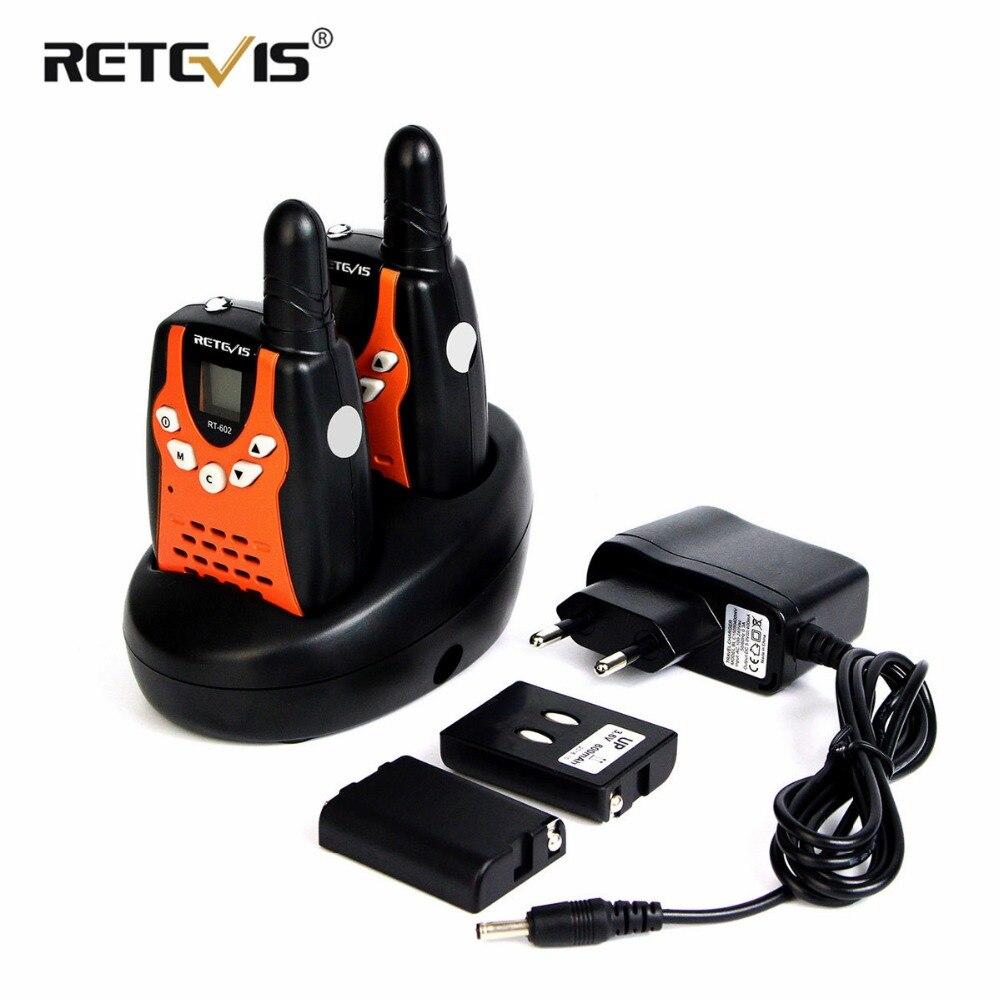 2 stücke Kinder Walkie Talkie Für Kinder Retevis RT602 0,5 watt PMR PMR446 FRS PTT VOX Taschenlampe Rechargable Batterie 2 weg Radio RT-602