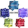 2016 Vestuário Tradicional Africano Aso Oke para as mulheres Nigéria 3 PCS Qualidade Top 10 cores 81612231002