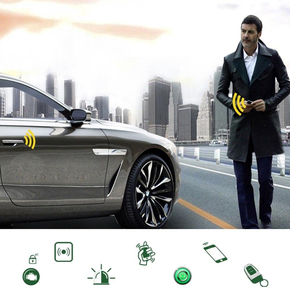 Accessoires de voiture universels système de confort d'entrée sans clé PKE téléphone APP démarrage à distance moteur de voiture alarme de voiture Push 913