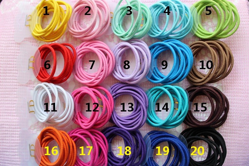 2.5MM thick High elastic rubber band JD in children hair accessories 300pcs  lot 0e6a33d9eea4