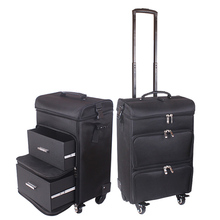 Men Trolley Cosmetic case Rolling Luggage bag on wheels,girls Nails Makeup Toolbox,Women Beauty Tattoo Salons Trolley Suitcase