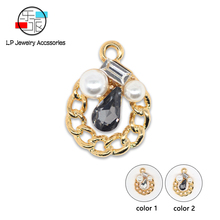 Crystal Zinc Alloy Pendant Jewelry Making for handmade DIY Bracelet Necklace Earring Findings & Components Material 10Pcs/lot myl 11 shiny crystal inlaid peasecod pendant zinc alloy necklace platinum