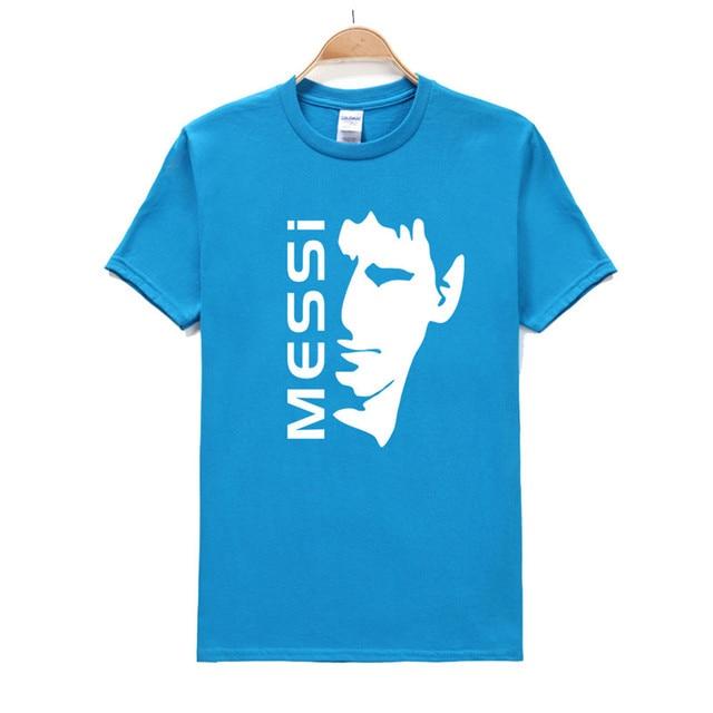 HUIHONSHE T-shirt MESSI Barcelona Camisas de Impressão T dos homens Novos  de Verão Casual a476ed5cb9550