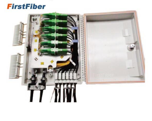 FTTH 24 cores fiber Termination Box 24 port 24 channel Splitter Box indoor outdoor fiber Splitter Box ABS FF FTB 24 A