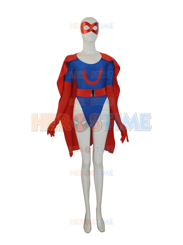 Ultra Woman Beth Costume Halloween Cosplay Red And Navy -4663
