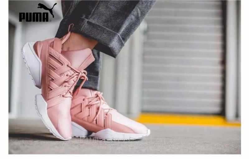e108fe035f45 Detail Feedback Questions about PUMA Women s Muse Echo Satin EP Sneakers  Badminton Shoes 365521 01 Pink Color Sneakers High Quality Shoes Women Size  35 40 ...