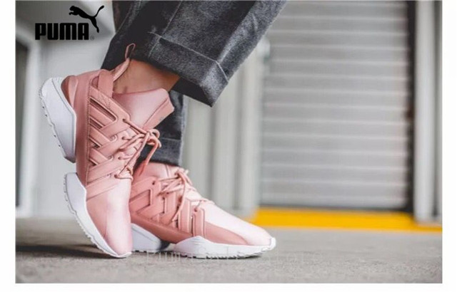 3dc990a14b7 PUMA Women s Muse Echo Satin EP Sneakers Badminton Shoes 365521-01 Pink  Color Sneakers High Quality Shoes Women Size 35-40