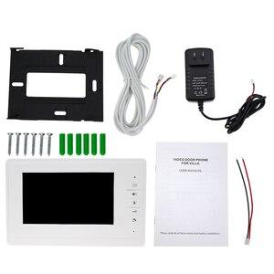 """Image 5 - 7 """"TFT LCD kolorowy ekran wideo dzwonek do drzwi domofon monitor wewnętrzny z 25 dzwonkiem do domu apartament bezpieczny V70F"""