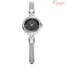 Relojes de Marca de lujo de Las Mujeres de Corte Multi Superficie Espejo Rhinestone Vestido de Cuarzo Reloj de Pulsera Correa de Reloj de Pulsera Hueco Horloge