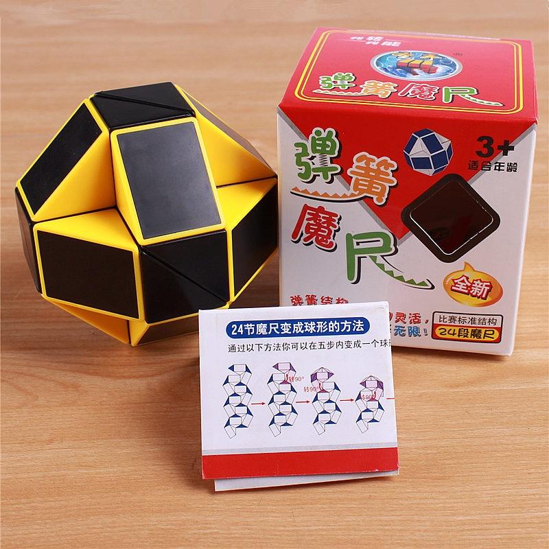 Viteza originală Magic Cube Șarpe Puzzle Ruler Twist 24 Blocuri - Jocuri și puzzle-uri - Fotografie 6