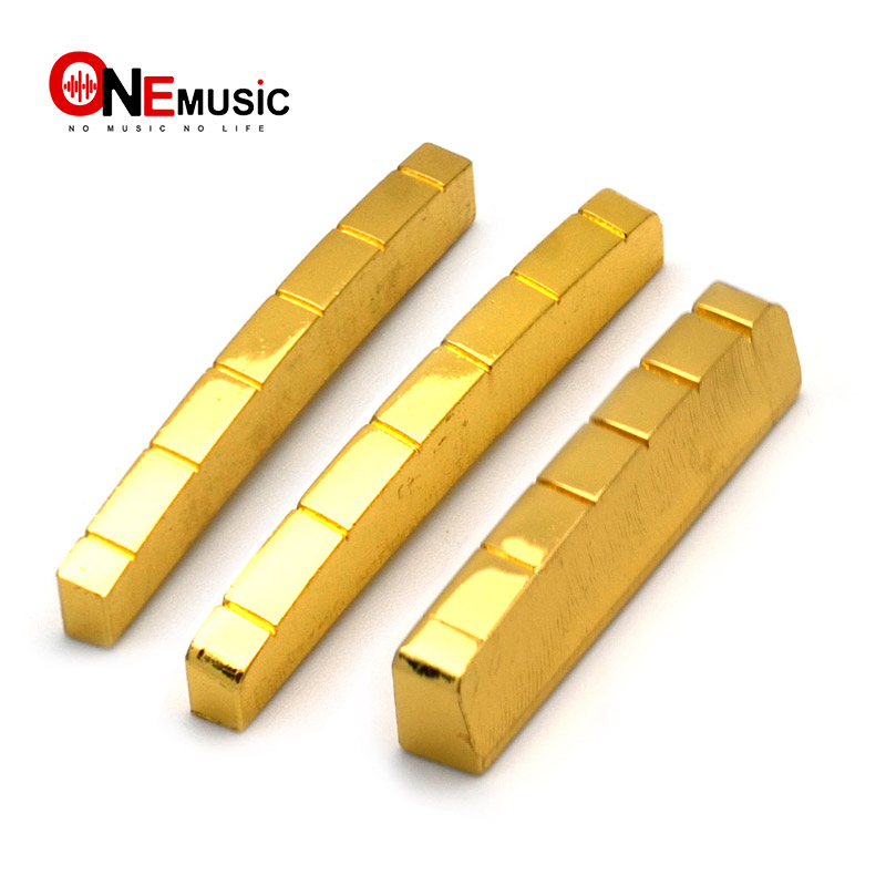 6 string brass gold plated electric guitar nut for electric guitar 42mm and 43mm in guitar parts. Black Bedroom Furniture Sets. Home Design Ideas
