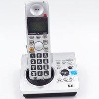 1.9 GHz Cyfrowy Dect 6.0 Połączeń ID Bezprzewodowy Telefon Bezprzewodowy Wbudowana zegar LCD z Podświetleniem z System Odbierania Poczty Głosowej Dla Domu B