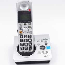 One Handset Digital Cordless Telephones Call ID Wireless Fixed Phone Built-In Clock Voice Mail Backlit LCD with Answering