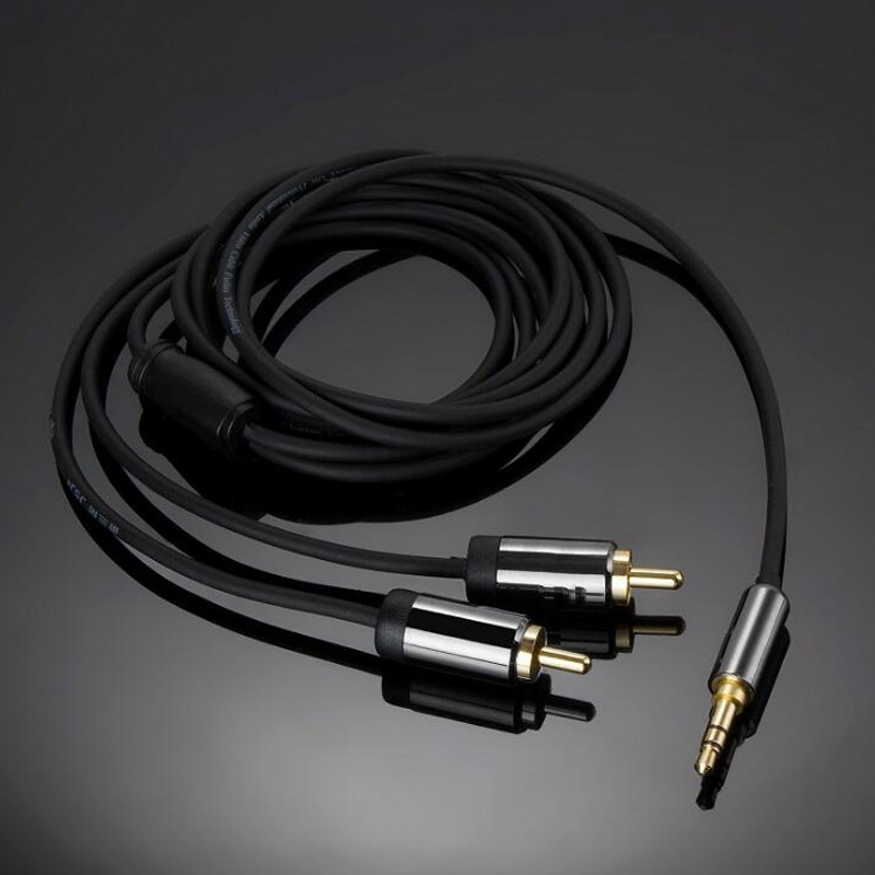 Winaqum Gold plated HIFI RCA Jack Audio Cables AUX Cable 2RCA male to 3.5 male Cable for Edifer Home Theater DVD Headphone ...