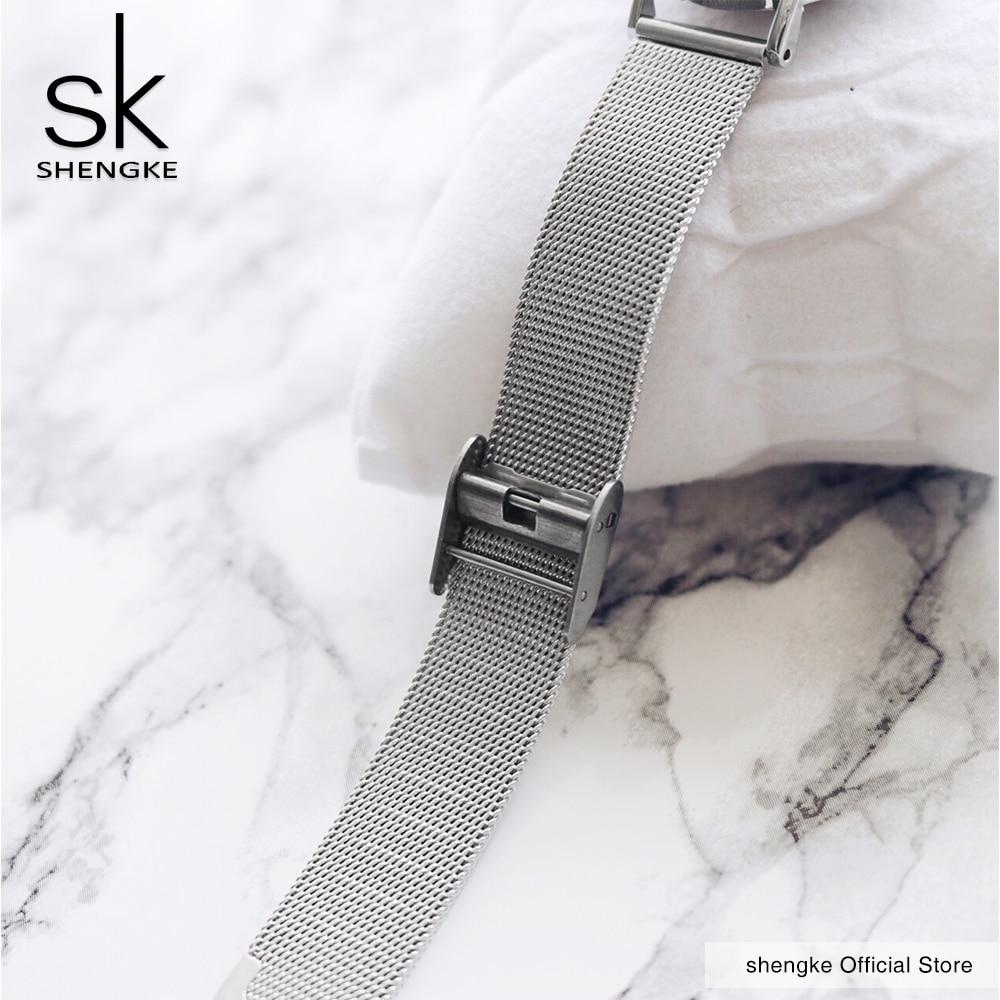 SK Super Slim Gliver Mesh Nehrđajući čelik Satovi Na vrh Luksuzni - Ženske satove - Foto 5