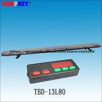 Tbd 13l80 высокое качество супер яркий 1.8 м светодиодный световой, DC12V/24 В крыши автомобиля вспышки стробоскоп lightbar, инженерные/аварийной светов