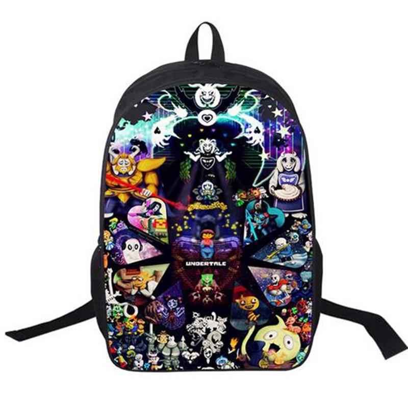 16Inch Undertale Backpack Free Add Logo+High Quality Free Shipping Customized Travel School Bag Mochila Teenage Boys Girls A020