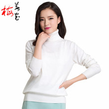 Winter Women 22 Solid Color Knitted Turtleneck Cashmere Pullover Sweater Autumn 2016 Fashion Lady Knitwear Jumper Brand New