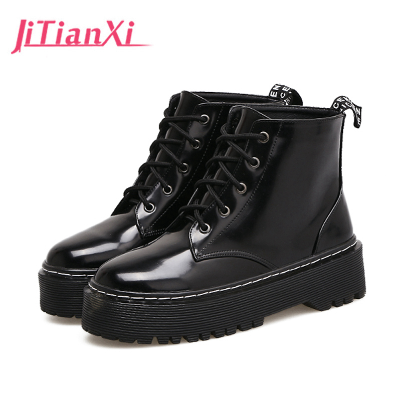 Women Ankle Boots Square High Heel Boots for Woman Fashion lace up Flock  Black Autumn Winter Womens Round Toe Boots Shoes 2017 autumn winter new womens leather ankle boots ladies black short boots round toe high block heel zip up booties size