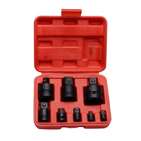 Hot 8Pcs/Set Black Pneumatic Sleeve Socket Adapter With Steel Ball Convertor