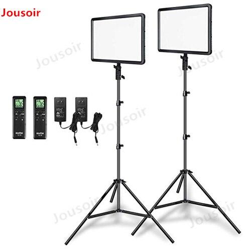 Godox 2 pcs 30 LEDP260C Ultra-fino w 3300-5600 k LED Luz de Vídeo Painel Lâmpada com 2 pcs 2 m Luzes do Estúdio Estande Luz para Vídeo CD50