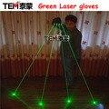 Бесплатная Доставка Зеленые Лазерные Перчатки С 4 шт. 532nm 80 МВт Лазер, СВЕТОДИОДНЫЕ Этап Перчатки Светящиеся Перчатки Для DJ Club/Партии Show