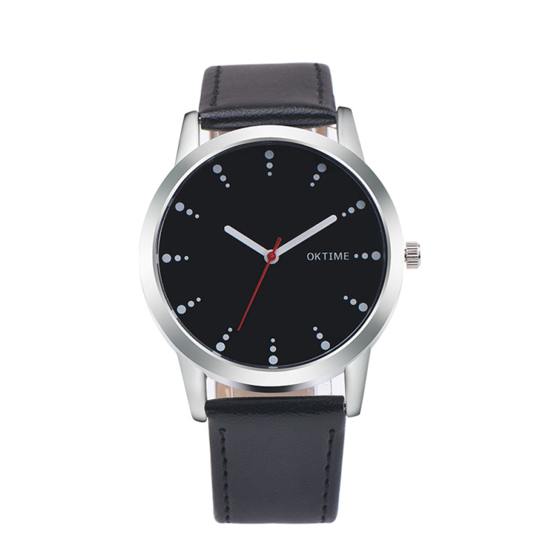 Excellent Quality New Women Watches Fashion Black Round Dial Leather Band Quartz Wrist Watch Mens Gifts Relogios Feminino