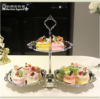 Online Get Cheap Silver Plated Wedding Cake Stands Aliexpresscom